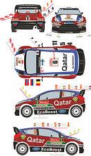 1/43 Decal Ford Fiesta WRC #4/5/6/11 Rally Montecarlo 2013