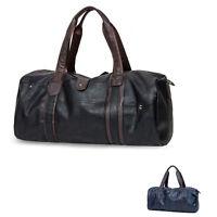 Men Tote Bag Large Capacity Luggage Leather Travel Shoulder Bag Duffle Gym Bags