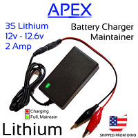 12v - 12.6v 25W 2A Lithium Battery Charger Maintainer Li-ion LiPo 3S