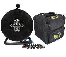 XLR Multicore 6/2 Way 15M Drum Stagebox & Chauvet CHS-40 Carry Case Package