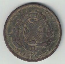 1837 CITY BANK ONE PENNY PROVINCE DU BAS CANADA DEUX SOUS COPPER TOKEN LC-9A2