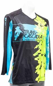 Pearl Izumi 2015 PNW Trans-Cascadia 3/4 Slv MTB Racing Jersey Men MEDIUM Black