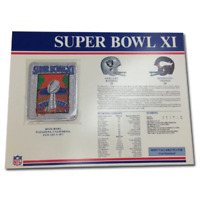 1977 NFL Super Bowl XI Patch Oakland Raiders Minnesota Vikings