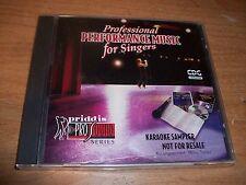 Pro Sound Professional Performance Music For Singers Karaoke Sampler CD NEW