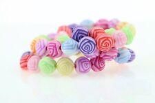 Lot 20 Perles Fleur 8mm Couleur mixte Fleurs Creation bijoux, colliler