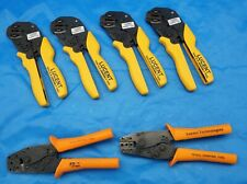 (Lot of 6) Lucent Industrial Hand Crimpers *See Description for Item List*