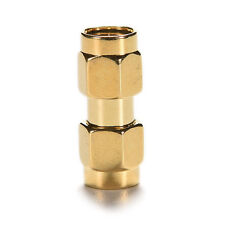 New 1X Adapter SMA Male to SMA Male Plug RF Connector Straight Gold Plated Chic