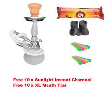 Portable Pumpkin Hookah Shisha 1 Hose Glass Vase Set W/ Free 10 Tips & 10 Coal