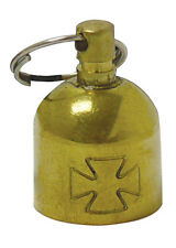 BRASS IRON CROSS GUARDIAN BELL chopper bobber friendship maltese gremlin