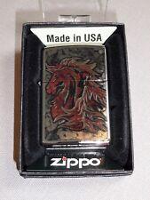 """Zippo """"z-fusion Horse """" - Cromo Pulido - NUEVO Y EMB. orig. - #604"""