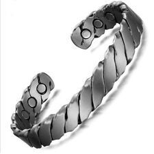 Unisex Pure Copper Magnetic Bracelet Arthritis Pain Therapy Energy Cuff Bangle