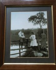 """Framed Print """"Catching Newts"""" by Frank Sutcliffe    (used but good condition)"""