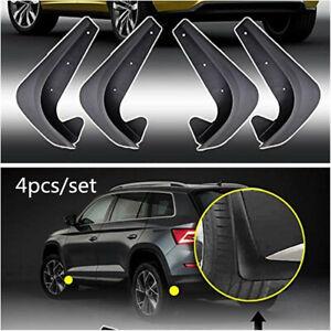 4Pcs Car Fender Splash Guards Mud Flaps Mudflaps Mudgurads Universal EVA Plastic