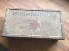 Wehrmacht WW2 2.WK Fahrzeug Sani First Aid Box Verbandkasten container Sd.KfZ