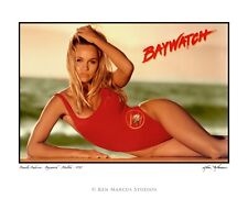 Pamela Anderson 92-005 Baywatch Swimsuit Shoot 8.5x11 Photo Signed by Ken Marcus
