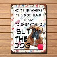 Boxer Dog Retro Metal Shabby-chic Tin Sign Wall Plaque 04 Vintage Metal Tin Sign