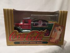 """COCA-COLA """"1931"""" HAWKEYE CRATE TRUCK BANK 1/25 SCALE DIE-CAST FROM 1993"""