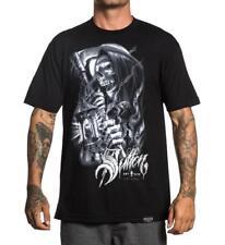 Sullen Men's Silver Reaper Short Sleeve Tee Tattoo Style Grim Reaper T-shirt