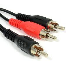 1.2 m de Phono RCA Y Splitter Cable 1 X Macho A 2 X macho de audio Lead Adaptador 1m