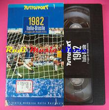 VHS film 1982 ITALIA-BRASILE storia moderna nazionale TUTTOSPORT (F90)no dvd *