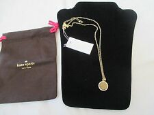 NWT KATE SPADE GOLD ALL THAT GLITTERS DRUZY PENDANT NECKLACE