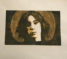 Patti Smith. Hand Made. Original A4 linocut art print.
