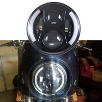 """7"""" Inch LED Headlight For Harley Davidson Fatboy Heritage Softail Deluxe FLST US"""