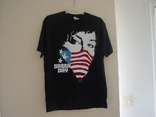 Green Day American flag mask short-sleeved tee shirt mens big & tall medium