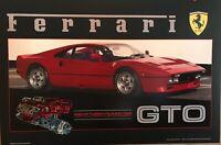 1984 Ferrari 288 GTO with Cutaway Of Turbo Engine O/P Car Poster! Rare! Stunning
