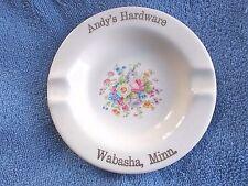 Vintage Ashtray Andy's Hardware, Wasbasha, Minn. 23 K Gold