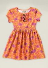 Matilda Jane CITRONELLA Dress 10 Orange Floral Lap Knit Vault Secret Fields NWT