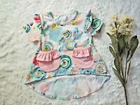 Boutique t-shirt tee summer flower Toddler Girls Pink top 1 2T 3T 4T 5 6 7 8 10
