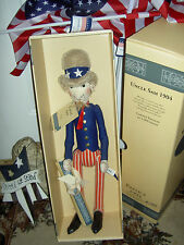 """Uncle Sam"", 20"", Steiff caricature 1904 replica doll Mint-in-Box w/certificate"