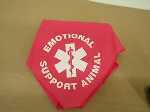 Emotional Support Animal Printed Dog Bandana Pink