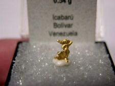 Gold palladian crystal all natural Bolivar,Venezuela  0.54 grams go4