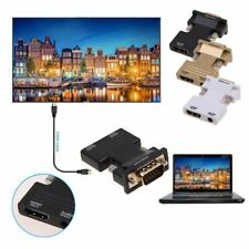 1080P HDMI Female to VGA Male Converter Adapter Dongle w/ 3.5mm Stereo Audio