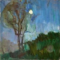 """Russischer Realist Expressionist Öl Leinwand """"Nacht"""" 49x48 cm **"""