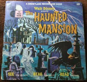 "RARE Disneyland 7"" Record & Book Vintage 1970 The Haunted Mansion"