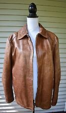 Fratelli Rossetti Leather Jacket Mens Brown Artigiana Made in Italy Size 48
