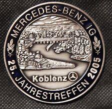MBIG Plakette 25.Mercedes Jahrestreffen Koblenz 2005  W120 W121 W128 W110