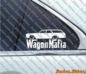 Lowered WAGON MAFIA sticker -for 1966 Chevrolet Impala station wagon classic W54