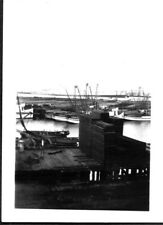 VINTAGE PHOTOGRAPH 1940'S FISHING SEINE BOATS LOS ANGELES CALIFORNIA OLD PHOTO