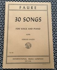 Faure 30 songs for low voice and piano, sheet music score, IMC No. 1132