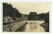 RPPC Pond and Dam in BELLEFONTE PA Vintage Centre county Real Photo Postcard