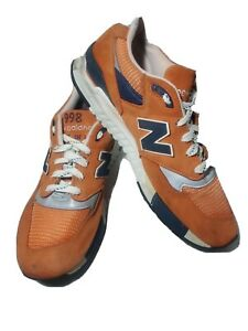 New Balance 998 USA Abzorb Shoes Orange/Navy/White/Silver Mens Size 9.5 M998CTL