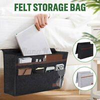 Sofa Felt Storage Bag Bedside Hanging Organizer Couch Armrest Pocket Tote Holder