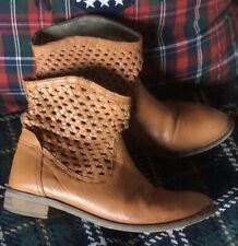 Womens Levi Levi's Tan Genuine Leather Boots Uk 4 Eu 37