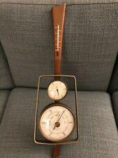 1960s Mid Century Modern Airguide Weather Satation Barometer Thermometer  Danish