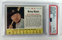 1963 Jell-O Mickey Mantle #15 - New York Yankees Hand Cut - PSA 4 VG-EX
