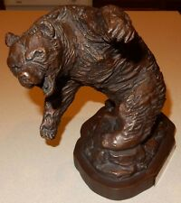 Alva Museum Replicas Montana Golden Grizzly Bear Sculpture